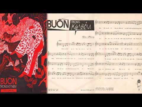 🎵 Buồn Trong Kỷ Niệm (Trúc Phương) Mỹ Thể Pre 1975 | Tờ Nhạc Xưa
