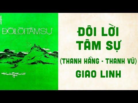 🎵 Đôi Lời Tâm Sự (Thanh Hằng, Thanh Vũ) Giao Linh Pre 1975 | Bìa Nhạc Xưa
