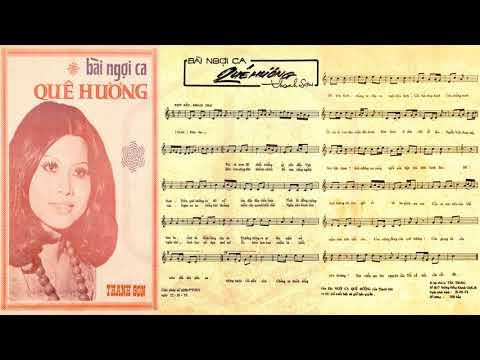 🎵 Bài Ngợi Ca Quê Hương (Thanh Sơn) Thái Châu, Sơn Ca Pre 1975 | Tờ Nhạc Xưa