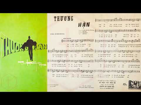 🎵 Thương Hận (Tú Nhi, Hồ Đình Phương) Chế Linh Pre 1975 | Tờ Nhạc Xưa