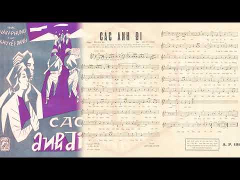 🎵 Các Anh Đi (Văn Phụng) Hà Thanh Pre 1975 | Tờ Nhạc Xưa