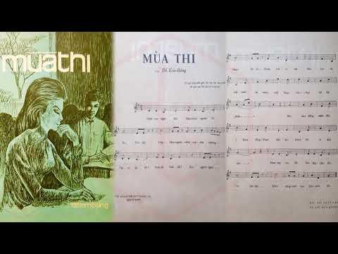 🎵 Mùa Thi (Đỗ Kim Bảng) Hoàng Oanh Pre 1975 | Tờ Nhạc Xưa