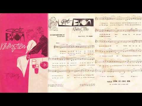 🎵 Giọt Buồn Không Tên (Tô Giang) Phương Dung Pre 1975 | Tờ Nhạc Xưa