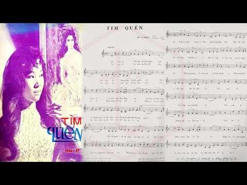 🎵 Tìm Quên (Châu Kỳ) Thanh Thúy Pre 1975 | Tờ Nhạc Xưa