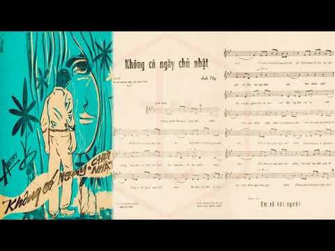 🎵 Không Có Ngày Chủ Nhật (Anh Thy) Giao Linh Pre 1975 | Tờ Nhạc Xưa