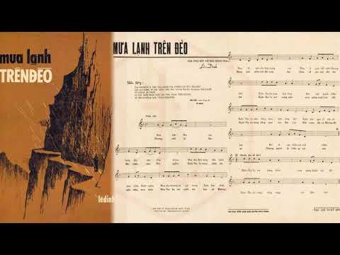 🎵 Mưa Lạnh Trên Đèo (Lê Dinh) Tuyết Mai Pre 1975 | Tờ Nhạc Xưa