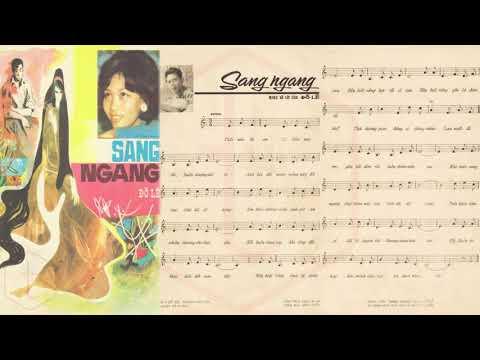 🎵 Sang Ngang (Đỗ Lễ) Lệ Thu Pre 1975 | Tờ Nhạc Xưa