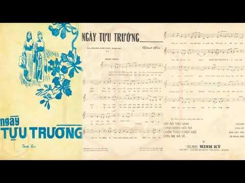 🎵 Ngày Tựu Trường (Thanh Sơn) Thanh Tuyền Pre 1975 | Tờ Nhạc Xưa