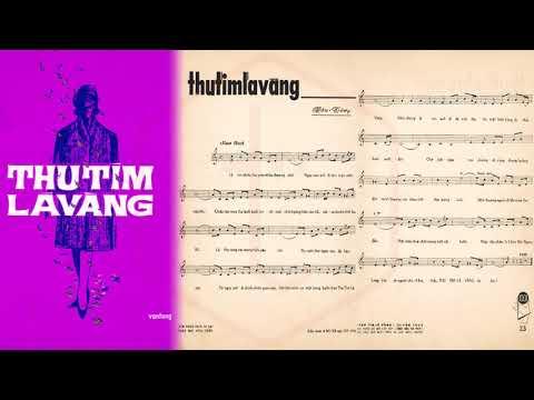 🎵 Thu Tím Lá Vàng (Vân Tùng) Thanh Thúy Pre 1975 | Tờ Nhạc Xưa