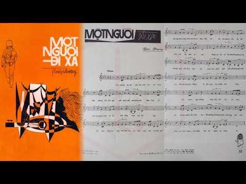 🎵 Một Người Đi Xa (Trúc Phương) Duy Khánh Pre 1975 | Tờ Nhạc Xưa