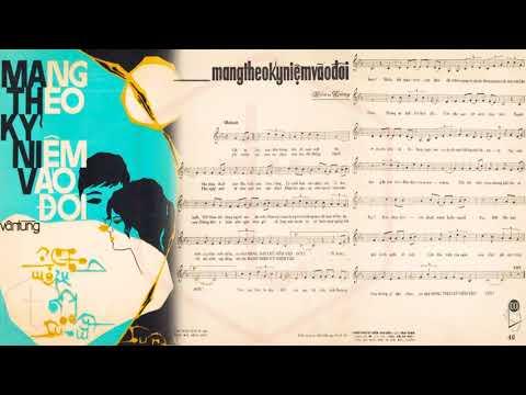 🎵 Mang Theo Kỷ Niệm Vào Đời (Vân Tùng) Hoàng Oanh Pre 1975 | Tờ Nhạc Xưa