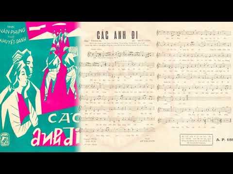 🎵 Các Anh Đi (Văn Phụng) Thái Thanh Pre 1975 | Tờ Nhạc Xưa