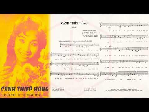 🎵 Cánh Thiệp Hồng (Lê Dinh) Thanh Thúy Pre 1975 | Tờ Nhạc Xưa