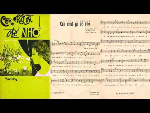 🎵 Còn Chút Gì Để Nhớ (Phạm Duy, Vũ Hữu Định) Thái Thanh Pre 1975 | Tờ Nhạc Xưa