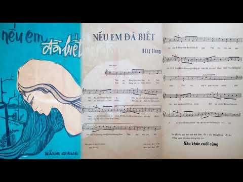 🎵 Nếu Em Đã Biết (Bằng Giang) Julie Quang Pre 1975 | Tờ Nhạc Xưa