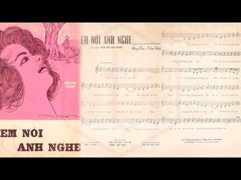 🎵 Em Nói Anh Nghe (Hồng Vân, Trần Quý) Hà Thanh Pre 1975 | Tờ Nhạc Xưa