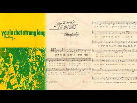 🎵 Yêu Là Chết Ở Trong Lòng (Thanh Hằng) Trang Mỹ Dung Pre 1975 | Tờ Nhạc Xưa