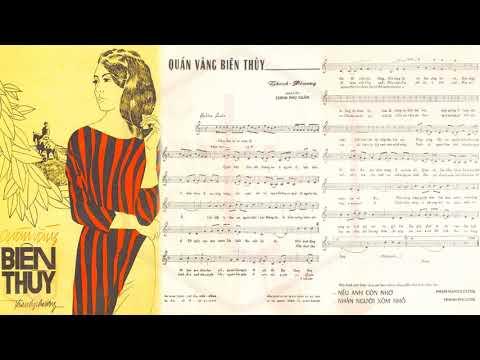 🎵 Quán Vắng Biên Thùy (Thanh Phương) Thanh Thúy Pre 1975 | Tờ Nhạc Xưa