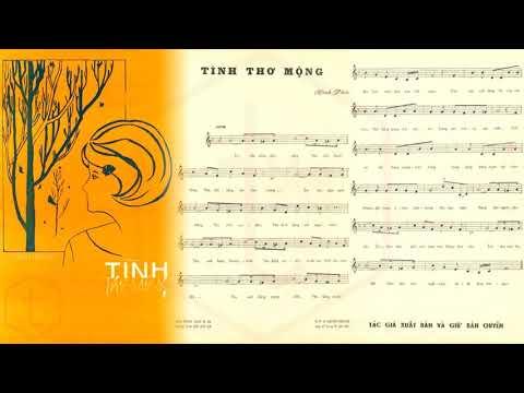 🎵 Tình Thơ Mộng (Vĩnh Phúc) Tuyết Mai Pre 1975 | Tờ Nhạc Xưa