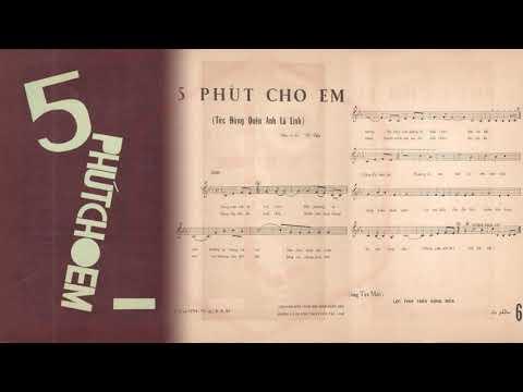 🎵 5 Phút Cho Em (Đừng Quên Anh Là Lính, Vũ Thy) Thanh Vũ Pre 1975 | Tờ Nhạc Xưa