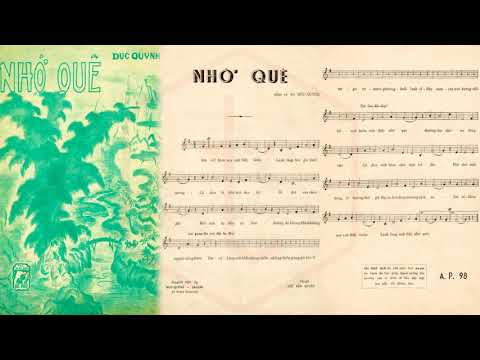 🎵 Nhớ Quê (Đức Quỳnh) Duy Trác Pre 1975 | Tờ Nhạc Xưa