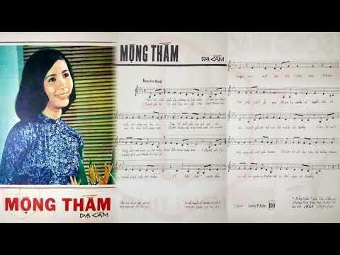🎵 Mộng Thắm (Dạ Cầm) Phương Hoài Tâm Pre 1975 | Tờ Nhạc Xưa