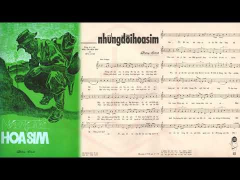 🎵 Những Đồi Hoa Sim (Dzũng Chinh, Hữu Loan) Hoàng Oanh Pre 1975 | Tờ Nhạc Xưa