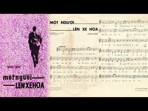 🎵 Một Người Lên Xe Hoa (Hoàng Trọng) Hà Thanh Pre 1975 | Tờ Nhạc Xưa