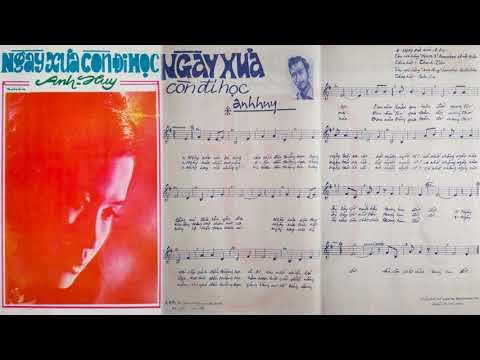 🎵 Ngày Xưa Còn Đi Học (Anh Huy) Thanh Tâm Pre 1975 | Tờ Nhạc Xưa