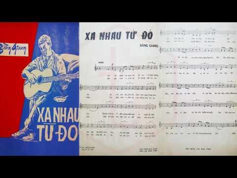 🎵 Xa Nhau Từ Đó (Bằng Giang) Trang Mỹ Dung Pre 1975 | Tờ Nhạc Xưa