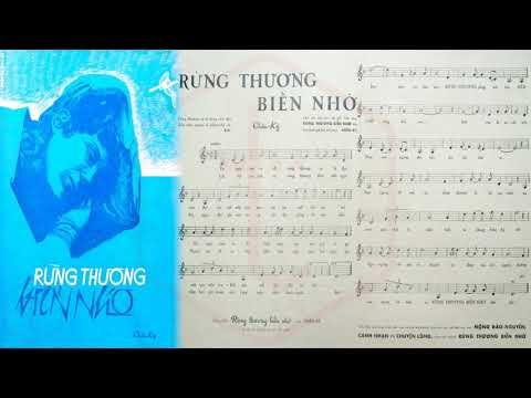🎵 Rừng Thương Biển Nhớ (Châu Kỳ) Thanh Thúy Pre 1975 | Tờ Nhạc Xưa
