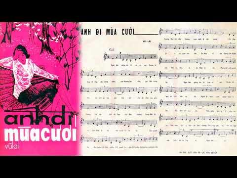 🎵 Anh Đi Mùa Cưới (Vũ Lai) Thanh Thúy Pre 1975 | Tờ Nhạc Xưa