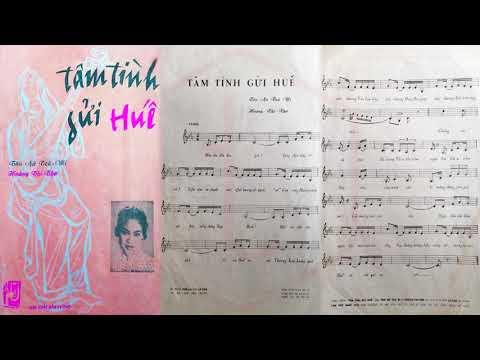 🎵 Tâm Tình Gửi Huế (Tân Cổ, Hoàng Thi Thơ) Ngọc Giàu Pre 1975 | Tờ Nhạc Xưa