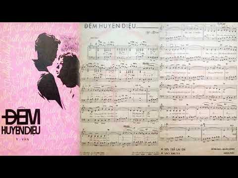 🎵 Đêm Huyền Diệu (Y Vân) Connie Kim Pre 1975 | Tờ Nhạc Xưa