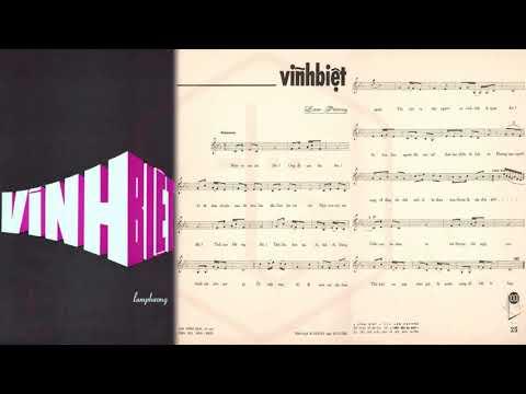 🎵 Vĩnh Biệt (Lam Phương) Phương Dung Pre 1975 | Tờ Nhạc Xưa