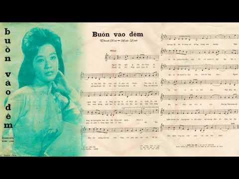 🎵 Buồn Vào Đêm (Thanh Sơn, Hoài Linh) Hoàng Oanh Pre 1975 | Tờ Nhạc Xưa