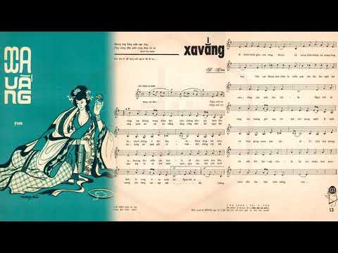 🎵 Xa Vắng (Y Vân) Hoàng Oanh Pre 1975 | Tờ Nhạc Xưa