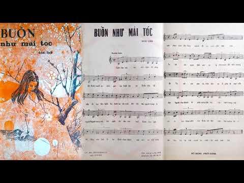 🎵 Buồn Như Mái Tóc (Hoài Linh) Phương Hồng Quế Pre 1975 | Tờ Nhạc Xưa