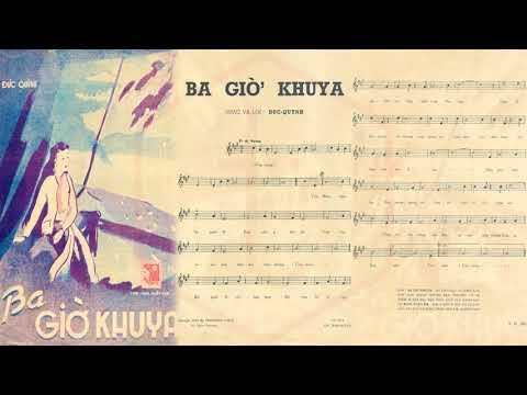 🎵 Ba Giờ Khuya (Đức Quỳnh) Hoàng Oanh Pre 1975 | Tờ Nhạc Xưa
