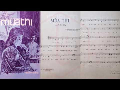 🎵 Mùa Thi (Đỗ Kim Bảng) Ban Bốn Phương Pre 1975 | Tờ Nhạc Xưa