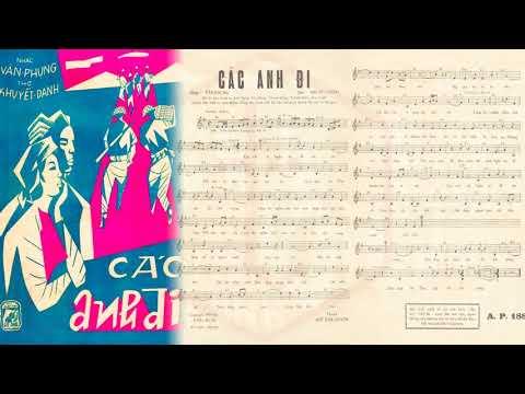 🎵 Các Anh Đi (Văn Phụng) Duy Khánh Pre 1975 | Tờ Nhạc Xưa