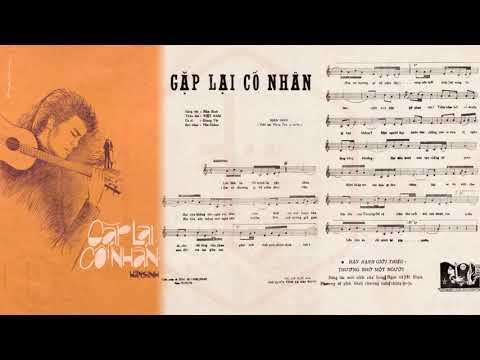 🎵 Gặp Lại Cố Nhân (Hàn Sinh) Thanh Tâm Pre 1975 | Tờ Nhạc Xưa