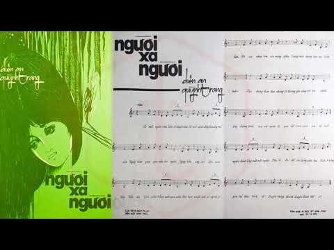 🎵 Người Xa Người (Diên An, Quỳnh Trang) Giao Linh Pre 1975 | Tờ Nhạc Xưa