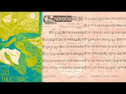 🎵 Nửa Đêm Thức Giấc (Lê Mộng Bảo) Phương Dung Pre 1975 | Tờ Nhạc Xưa