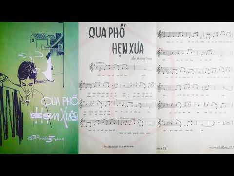 🎵 Qua Phố Hẹn Xưa (Đài Phương Trang) Thanh Phong, Phương Hồng Quế Pre 1975 | Tờ Nhạc Xưa