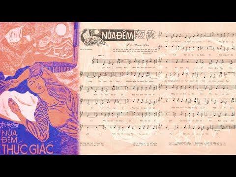 🎵 Nửa Đêm Thức Giấc (Lê Mộng Bảo) Thanh Thúy Pre 1975 | Tờ Nhạc Xưa