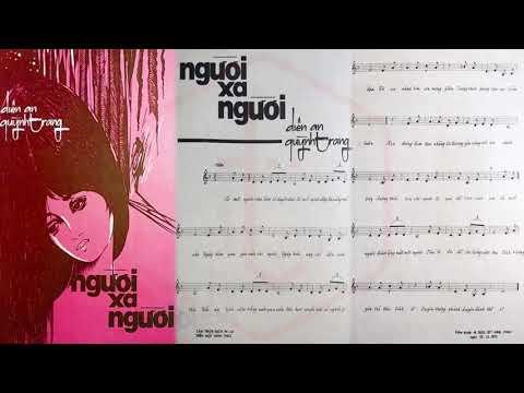 🎵 Người Xa Người (Diên An, Quỳnh Trang) Diên An Pre 1975 | Tờ Nhạc Xưa