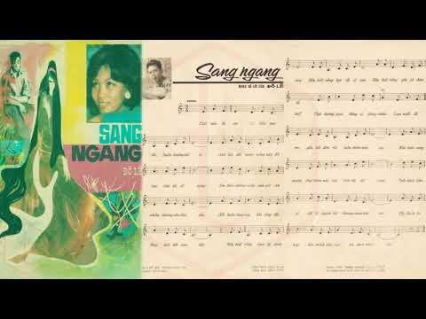 🎵 Sang Ngang (Đỗ Lễ) Thái Thanh Pre 1975 | Tờ Nhạc Xưa