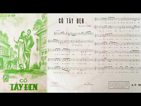 🎵 Cô Tây Đen (Vũ Chấn) Vân Sơn Pre 1975 | Tờ Nhạc Xưa