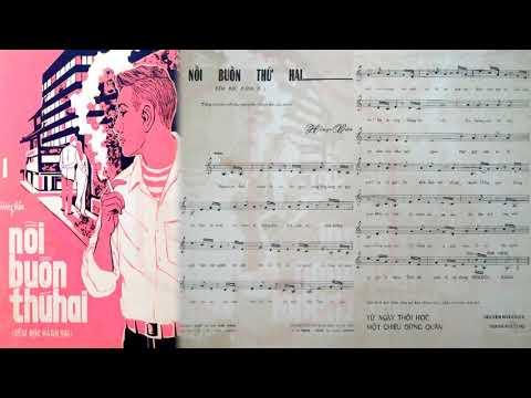 🎵 Nỗi Buồn Thứ Hai (Hồng Vân) Duy Khánh Pre 1975 | Tờ Nhạc Xưa